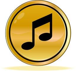 bouton note de musique