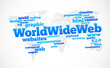 World Wide Web word cloud