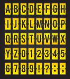 Fototapety Yellow sleek vector abc flipping panel