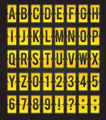 Yellow sleek vector abc flipping panel