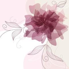Sfondo con fiori delicati - Delicate floral background