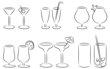 set cocktailgläser
