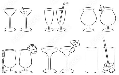 Cocktail Gläser gamesageddon set cocktailgläser lizenzfreie fotos vektoren und