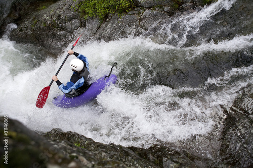 white water canoing