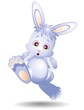 Coniglio Cartoon Corre-Running Little Rabbit-Vector