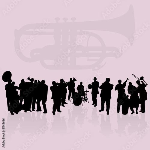 Brass players set