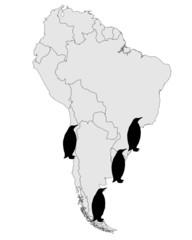 Magellan-Pinguin Verbreitungskarte