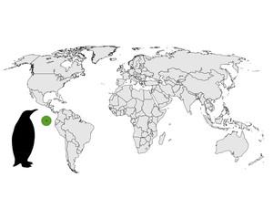 Galapagos-Pinguin Verbreitungskarte