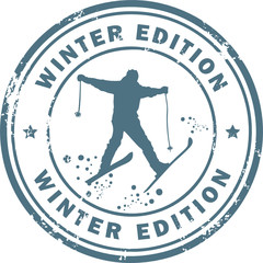 Stamp with the word Winter Edition inside