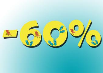 Soldes 60%
