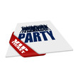 karte/schleife (s) party vip ticket I