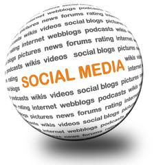 3D Kugel SOCIAL MEDIA