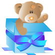 babybär - geschenk cyan