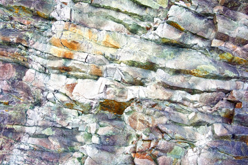 close-up relief of the rocks