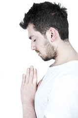 Praying Young Man