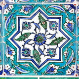 Ottoman vintage tile as background poster