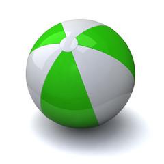 Green&white beach ball