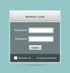 Member login website element
