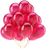 Party balloons pink translucent romantic decoration