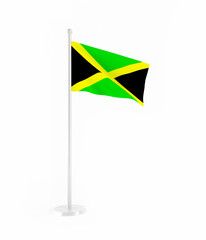 3D flag of Jamaica