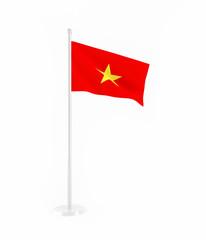 3D flag of Vietnam