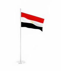 3D flag of Egypt