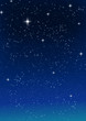 Stars in the blue sky, vector image.