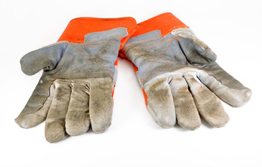 Work Gloves on white background