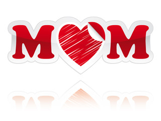 Love sticker for Mother's Day