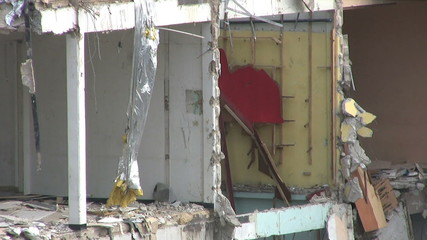 Bombed Out Building After Terrorist Attack