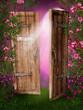 Drzwi w różanym ogrodzie