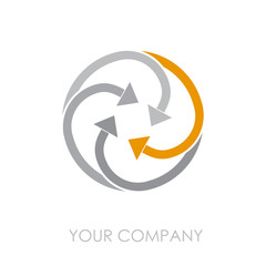 Logo arrows in rotation # Vector