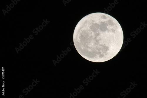 Staande foto Volle maan Mond