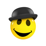 3d Smiley in a bowler hat