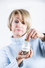 Mature Woman Saving For Retirement