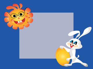 Easter background, card, frame