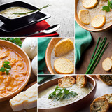 Food Collage.Soups collection