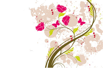 arabesque floral grunge