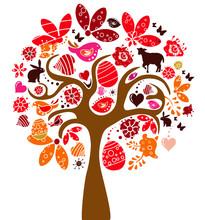 Kolor Wielkanoc drzewa