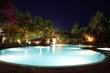 Luxury swimming pool in the midnight