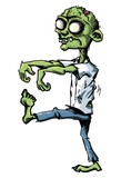 Cartoon zombie isolated on white