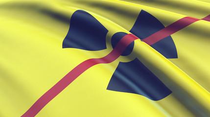 Flagge atomare Gefahr