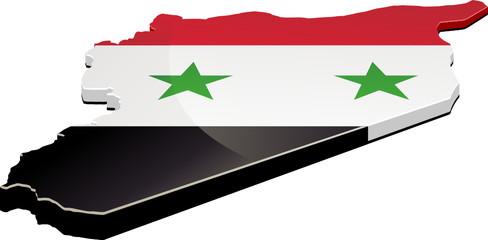 Carte 3D de la Syrie (détouré)