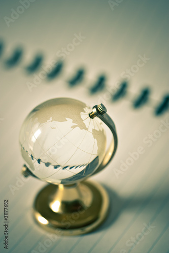 transparent glass globe