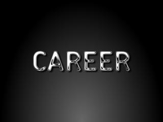 Career chrome text / EPS vector file