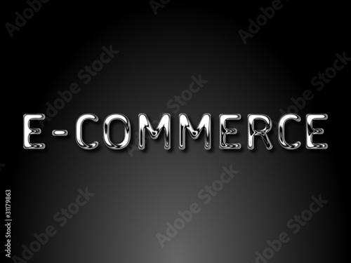 E-commerce chrome text / EPS vector file