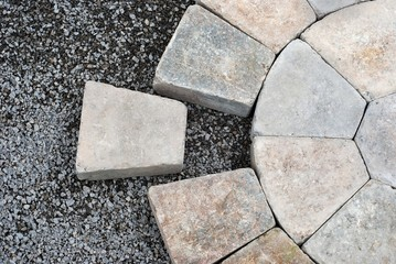 Pavers in a circular pattern