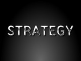 Strategy chrome text / EPS vector file