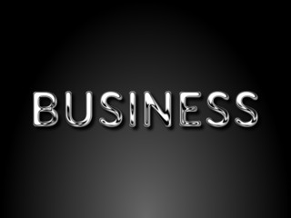 Business chrome text / EPS vector file