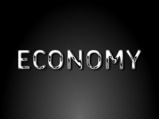 Economy chrome text / EPS vector file
